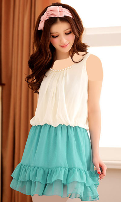 مدل پیراهن کوتاه دخترانه تابستانی