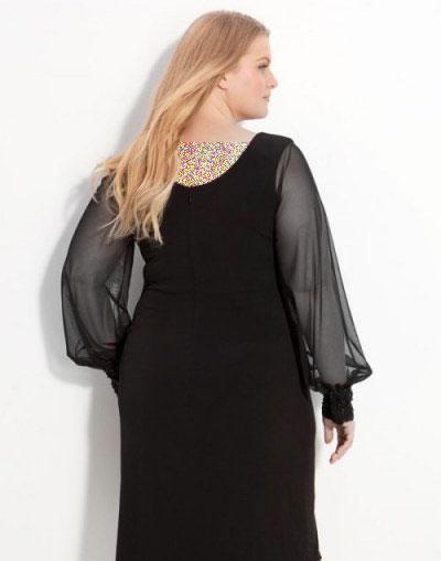 لباس شب خانمهای چاق, مدل لباس شب رنان چاق