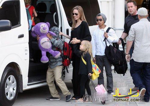 آنجلینا جولی و فرزندانش در سیدنی