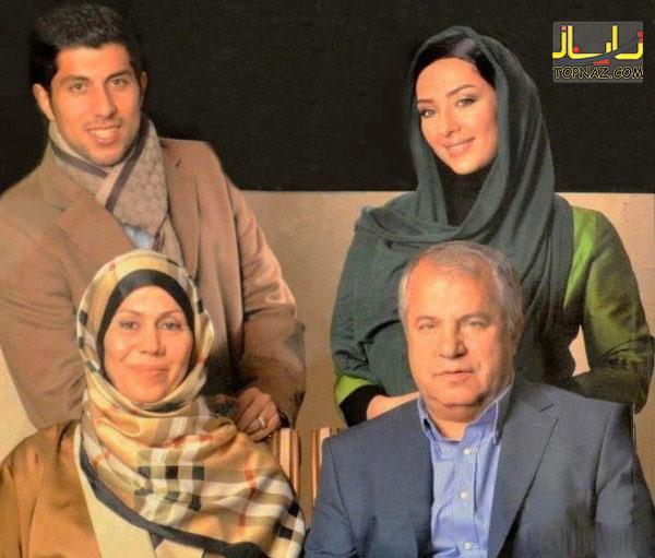 علی پروین در کنار خانواده اش