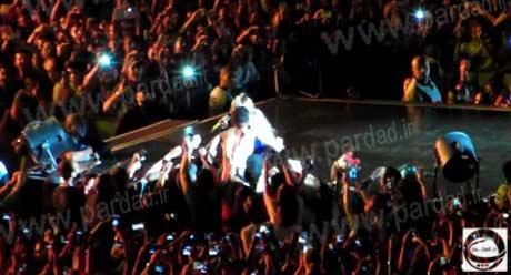 konsert biyane اختلال و جنجال یک هوادار دیوانه در کنسرت بیانسه +عکس