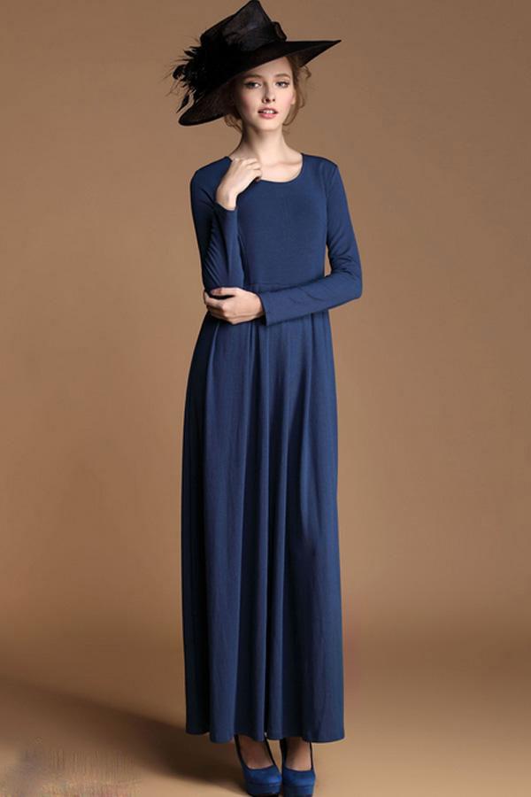 مدل لباس مجلسی زنانه بلند ساده