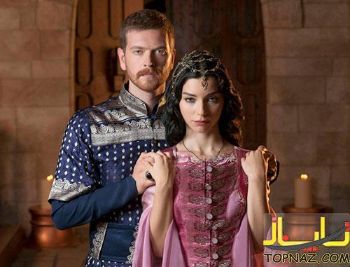 عکس سلیم و نوربانو در سریال حریم سلطان