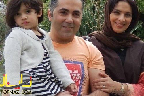 عکس از روشنک عجمیان در کنار همسر و دخترش