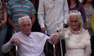 مراسم عروسی بعد از 80 سال رابطه دوستی!!