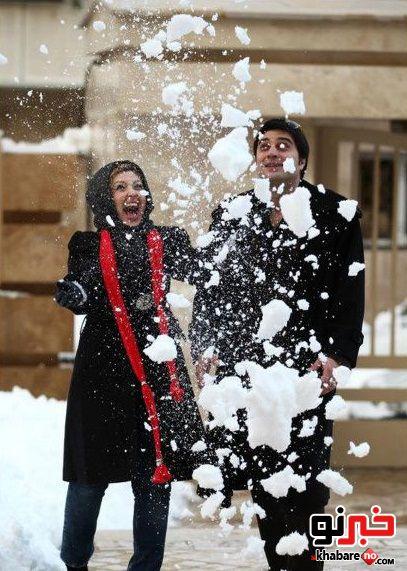 عکس نیوشا صیغمی و همسرش