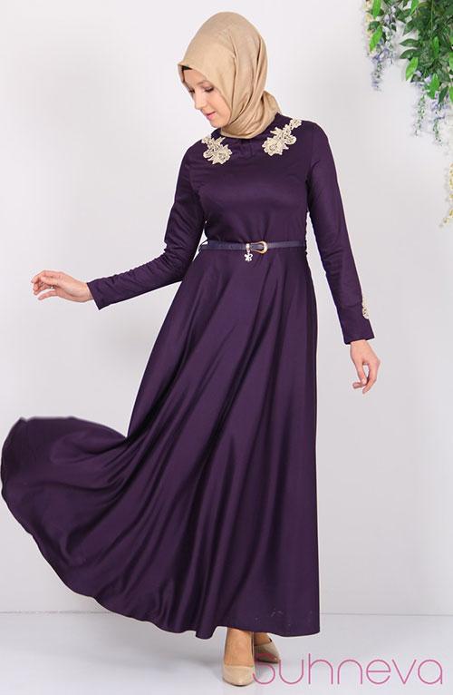 مدل لباس مجلسی با حجاب ترک