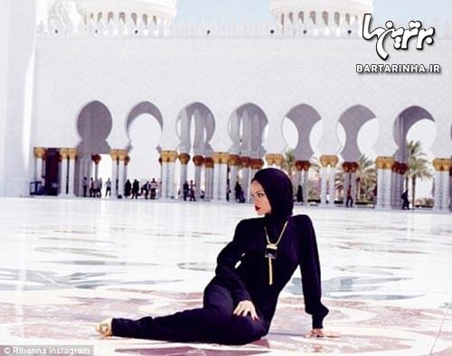 مدل لباس جالب ریحانا در امارات