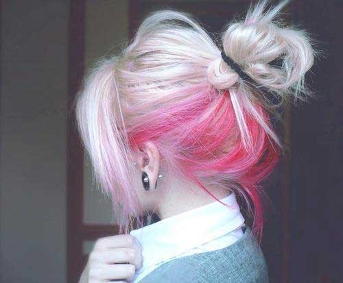 رنگ مو مدل رنگ موهای فانتزی دخترانه