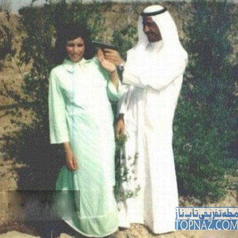 شوخی صدام حسین با همسرش