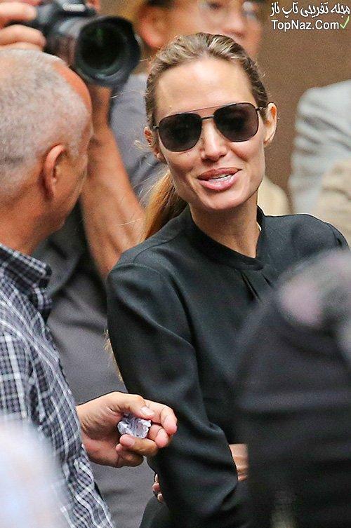 آنجلینا جولی در پشت صحنه فیلم Unbroken