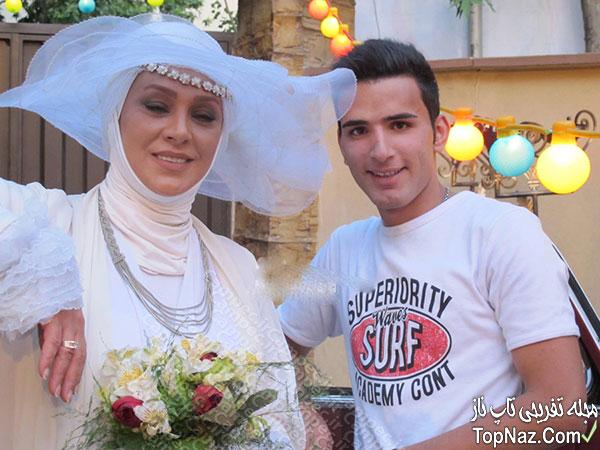 نسرین مقانلو در لباس عروس