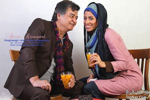 عکس رضا رویگری و همسرش