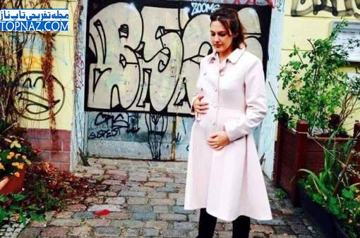 عکسی جدید از بازیگر خرم سلطان در دوران بارداری