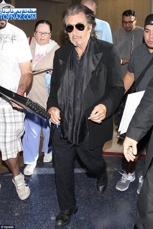 عکسهای آل پاچینو در فرودگاه لوس آنجلس