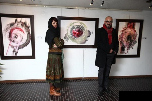 عکس امیر آقایی و خواهرش