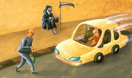 کاریکاتور جالب مرگ