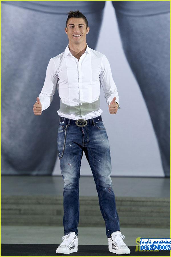 جدیدترین عکس های کریستیانو رونالدو در مراسم تبلیغ لباس