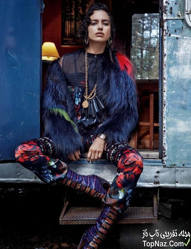عکس ایرینا شایک دوست دختر رونالدو بر جلد مجله
