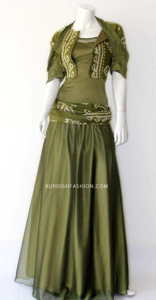 انواع طرح های دستمال کردی مدل لباس زنانه کردی