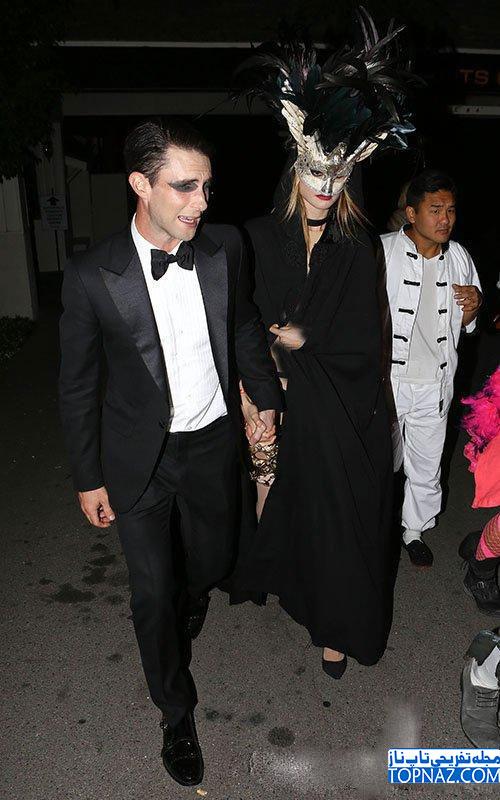 بهاتی پرینسلو بهمراه آدام لاوین در مهمانی جشن هالووین 2013
