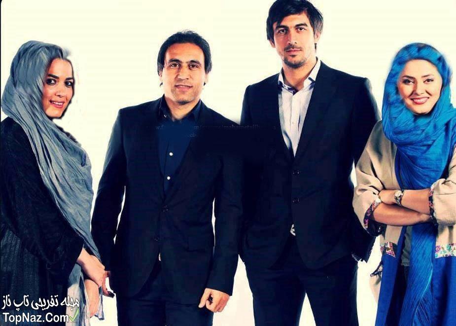 عکس مهدوی کیا و رحمتی در کنار همسرانشان