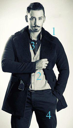 پیشنهاد لباس زمستانی مردانه,تیپ آقایان در زمستان