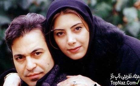 لادن طباطبایی و همسرش