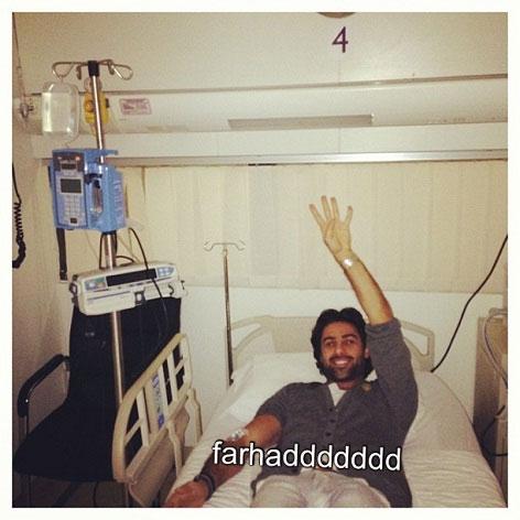 کری مجیدی از روی تخت بیمارستان +عکس