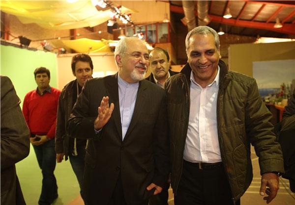 ملاقات محمد جواد ظریف و مهران مدیری +عکس