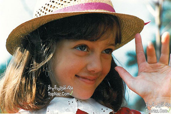 عکس مریم اوزرلی در کودکی