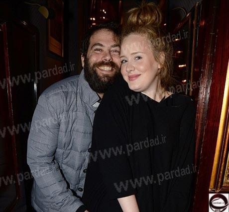 ادل و همسرش در کنسرت لیدی گاگا +تصاویر