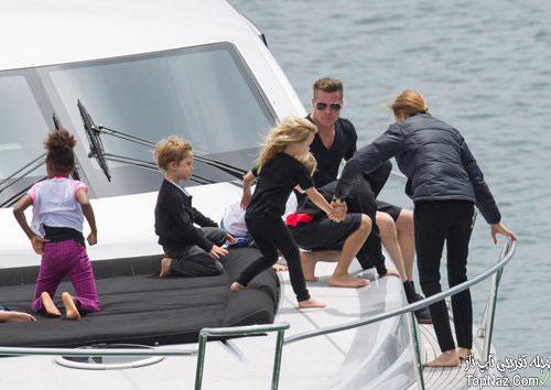 آنجلینا جولی و خانواده اش در حال تفریح در سیدنی