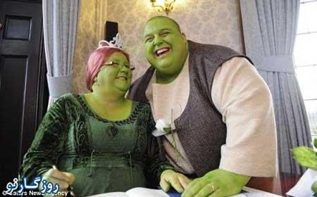 مراسم عروسی شرک واقعی و فیونا!! +عکس
