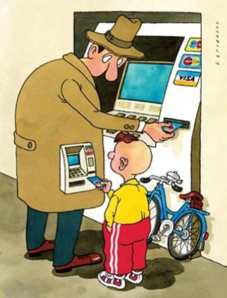 کاریکاتورهای مفهومی, کاریکاتور و تصاویر طنز