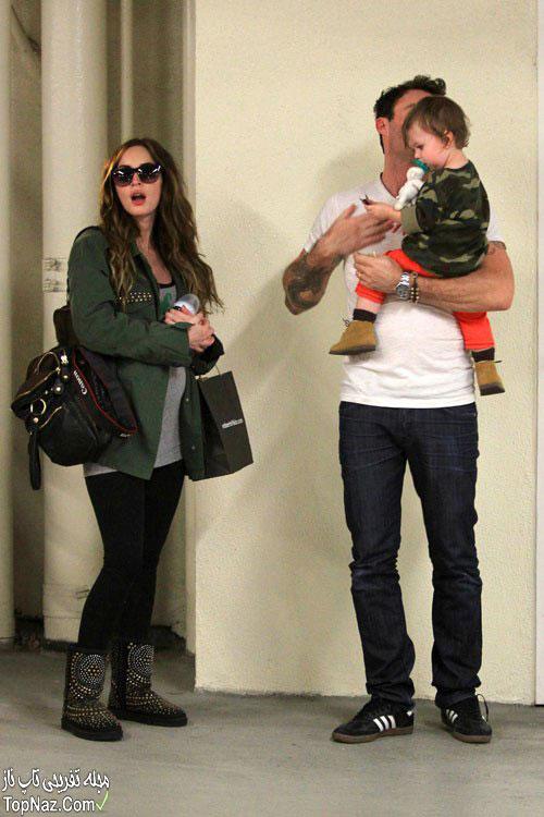 عکس مگان فاکس باردار و همسرش