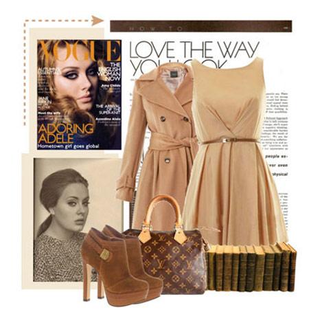 ست کردن لباس به سبک Adele,ست لباس زمستانی Adele
