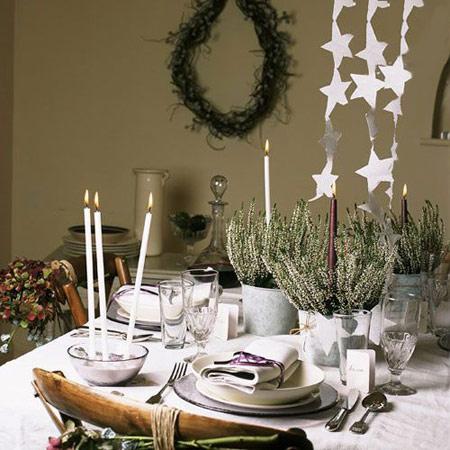 دکوراسیون ناهارخوری کریسمس, چیدمان میز کریسمس