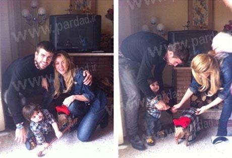 عکس های خانوادگی شکیرا در روز کریسمس