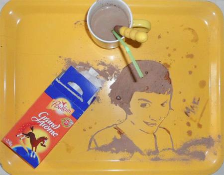 Spilled Coffee Art