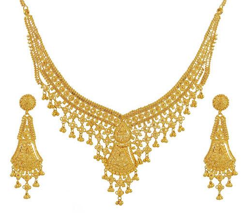 سرویس طلا زرد هندی زیبا