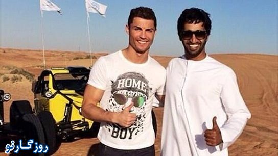 کریس رونالدو دوست دختر و پسرش در دبی