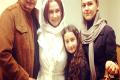 آنا نعمتی در کنار خواهر و برادر و دخترش+عکس