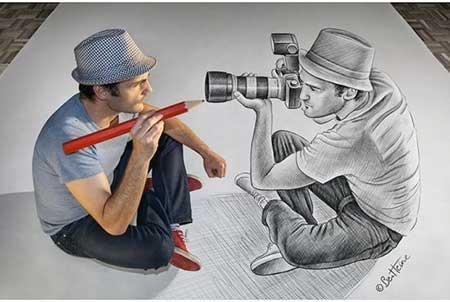 اخبار ,اخبار گوناگون ,نقاشیهای سه بعدی