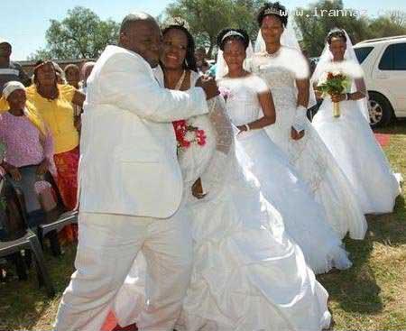 عروسی مرد با چهار زن