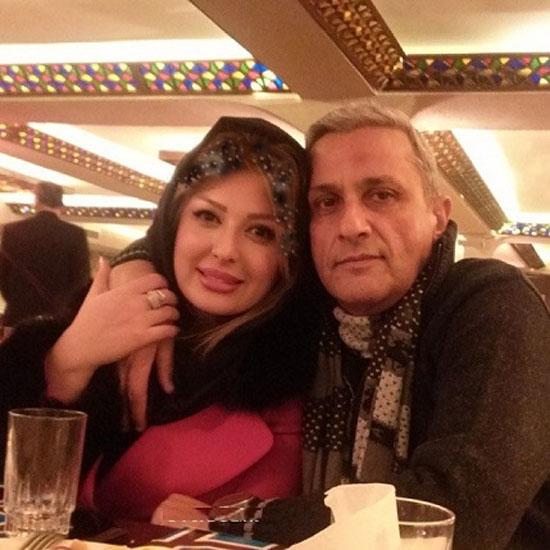 عکس جدید نیوشا ضیغمی در کنار پدرش