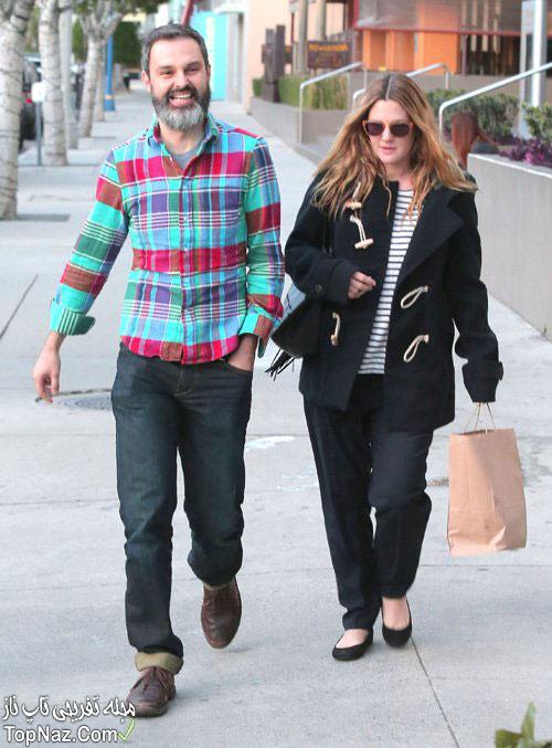 عکس های درو بریمور در کنار همسرش