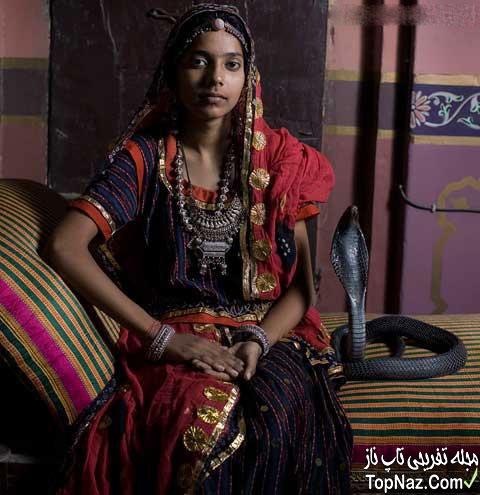 ازدواج دختر هندی با مار کبری! +عکس