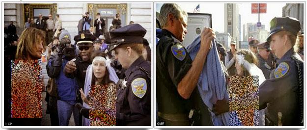 عروس و داماد برهنه در خیابان دستگیر شدند! +عکس
