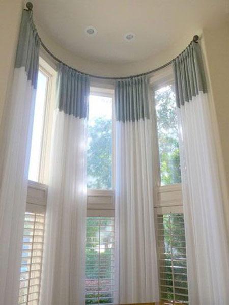 تزیین کردن پنجره های بلند,مدل های پنجره های بلند